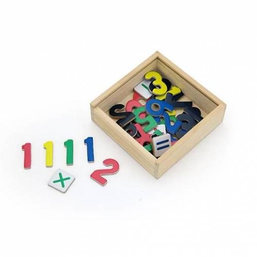 Деревянная игрушка  Набор магнитов Viga Toys Цифры, 37 шт. 50325