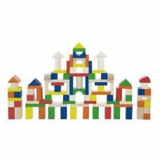 Деревянная игрушка  Набор строительных блоков Viga Toys 100 шт., 2,5 см 50334