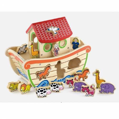 Деревянная игрушка  Игрушка-сортер Viga Toys Ноев ковчег 50345