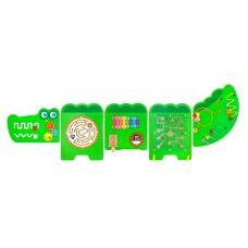 Деревянная игрушка  Настенная игрушка Viga Toys бизиборд Крокодил 50346