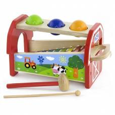 Деревянная игрушка  Игрушка Viga Toys 2-в-1 Ксилофон 50348