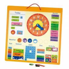 Деревянная игрушка  Календарь магнитный Viga Toys 50377