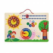 Деревянная игрушка  Развивающая игрушка Viga Toys Календарь и часы 50380
