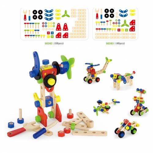 Деревянная игрушка  Конструктор Viga Toys 48 деталей 50383