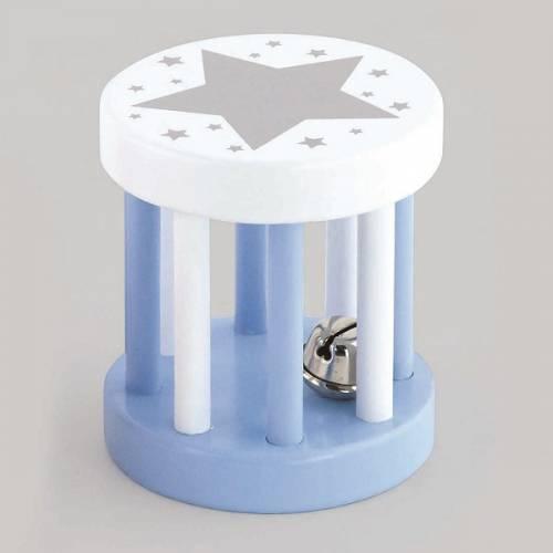 Деревянная игрушка  Погремушка Viga Toys Цилиндр, голубой 50395