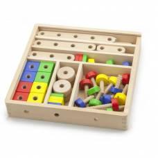 Деревянная игрушка  Конструктор Viga Toys 53 детали 50490