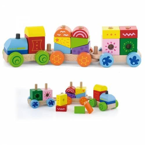 Деревянная игрушка  Конструктор Viga Toys Поезд 50534