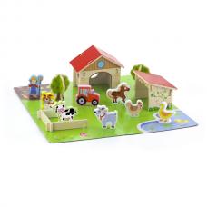 Деревянная игрушка  Игровой набор Viga Toys Ферма, 30 элементов 50540