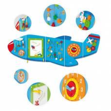 Деревянная игрушка  Игровой центр бизиборд Viga Toys Самолет 50673