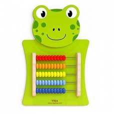 Деревянная игрушка  Игрушка настенная Viga Toys Лягушка со счетами 50679