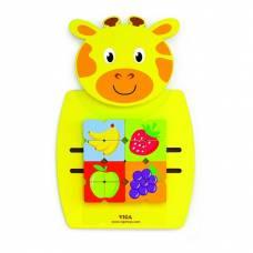 Деревянная игрушка  Игрушка настенная Viga Toys Жираф с фруктами 50680