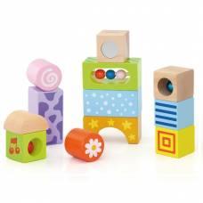 Деревянная игрушка  Набор строительных блоков Viga Toys Погремушки 50682