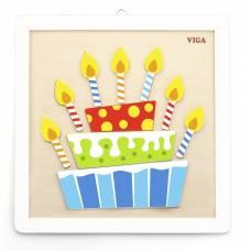 Деревянная игрушка  Набор для творчества  Viga Toys Своими руками. Торт 50684