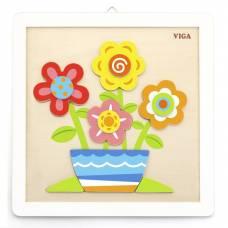 Деревянная игрушка  Набор для творчества  Viga Toys Своими руками. Цветы 50685