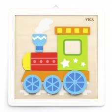 Деревянная игрушка  Набор для творчества Viga Toys Своими руками. Паровозик 50686