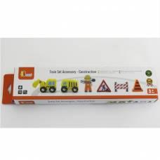 Деревянная игрушка  Доп. набор к ж/д Viga Toys Строители 50813