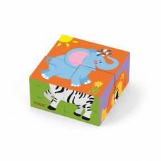 Деревянная игрушка  Пазл-кубики Viga Toys Сафари 50836