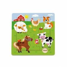 Деревянная игрушка  Пазл Viga Toys Ферма 50837