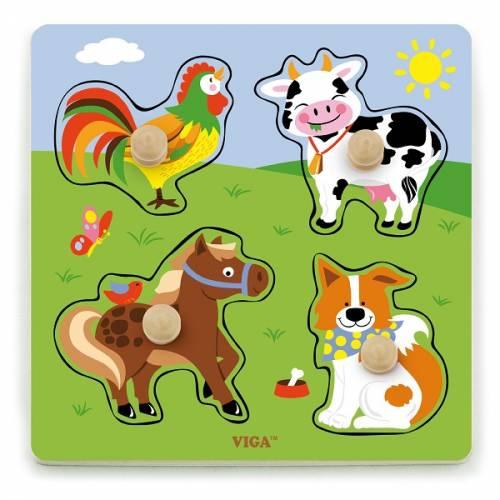 Деревянная игрушка  Рамка-вкладыш Viga Toys Ферма 50839
