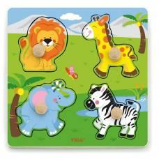 Деревянная игрушка  Рамка-вкладыш Viga Toys Дикие животные 50840
