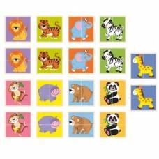 Деревянная игрушка  Пазл Viga Toys Дикие животные 50842