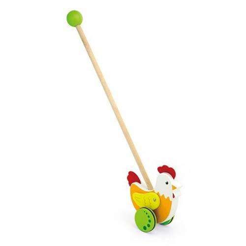 Деревянная игрушка  Игрушка-каталка Viga Toys Курочка 50964