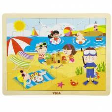 Деревянная игрушка  Пазл Viga Toys Времена года. Лето 51270
