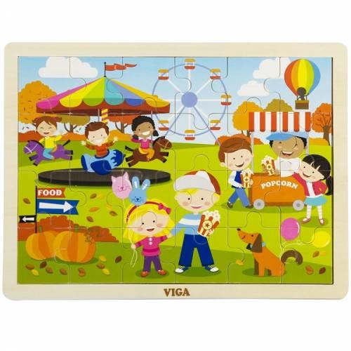Деревянная игрушка  Пазл Viga Toys Времена года. Осень 51271
