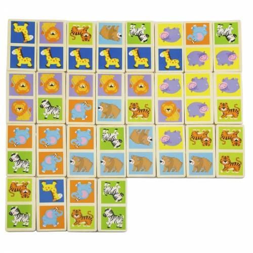 Деревянная игрушка  Настольная игра Viga Toys Домино Сафари 51307