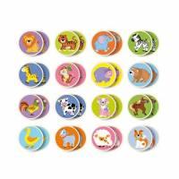 Деревянная игрушка  Настольная игра Viga Toys Memory-животные, 32 карточки 51308