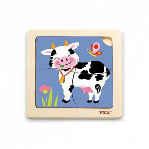 Деревянная игрушка  Пазл Viga Toys Корова 51313