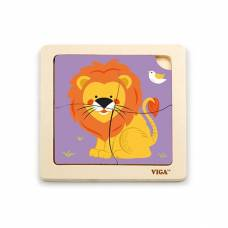 Деревянная игрушка  Пазл Viga Toys Лев 51316