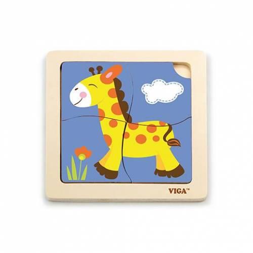 Деревянная игрушка  Пазл Viga Toys Жираф 51319