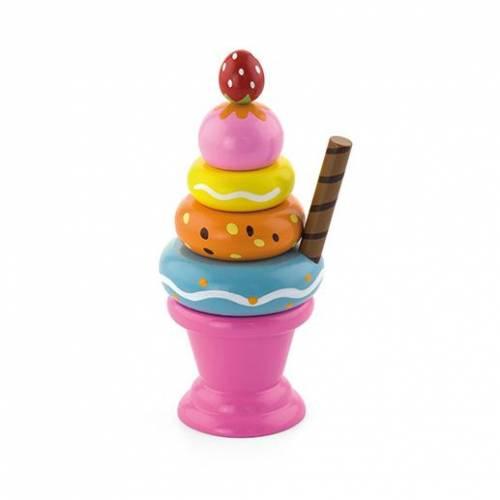 Деревянная игрушка  Игровой набор Viga Toys Мороженное с фруктами. Клубничка 51321