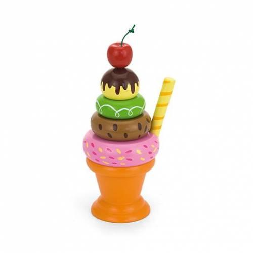 Деревянная игрушка  Игровой набор Viga Toys Мороженное с фруктами. Вишенка 51322