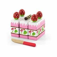 Деревянная игрушка  Игровой набор Viga Toys Клубничный торт 51324