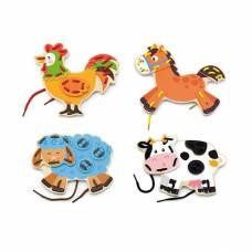 Деревянная игрушка  Шнуровка Viga Toys Ферма 51325