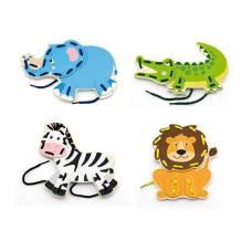 Деревянная игрушка  Шнуровка Viga Toys Дикие животные 51326