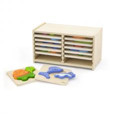 Деревянная игрушка  Набор пазлов Viga Toys 12 штук 51423