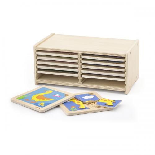 Деревянная игрушка  Набор пазлов Viga Toys 12 штук 51424