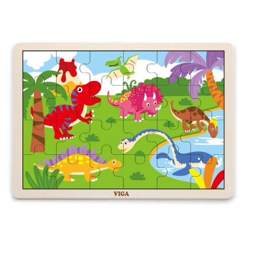 Деревянная игрушка  Пазл Viga Toys Динозавр 51460