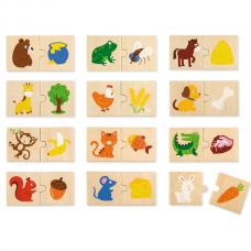 Деревянная игрушка  Набор  пазлов Viga Toys Что едят животные 51607