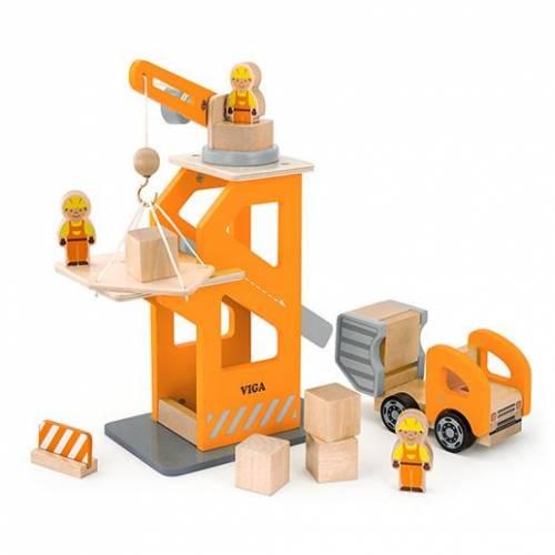 Деревянная игрушка  Игровой набор Viga Toys Строительная площадка 51616