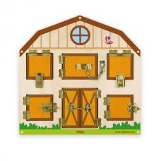 Деревянная игрушка  Игрушка настенная бизиборд Viga Toys Открой замок 51627