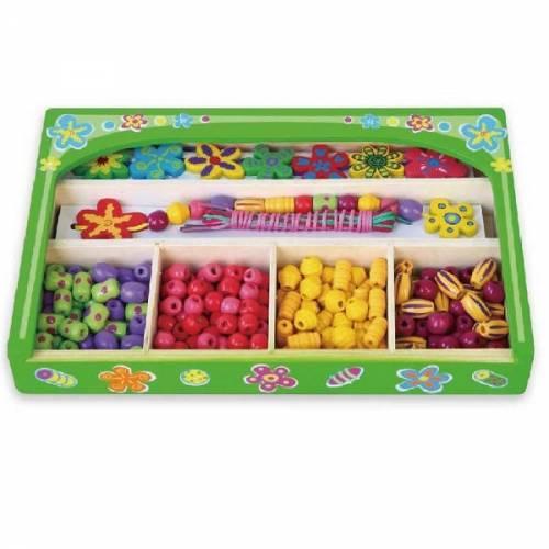 Деревянная игрушка  Набор для творчества Viga Toys Ожерелье Цветы 52730