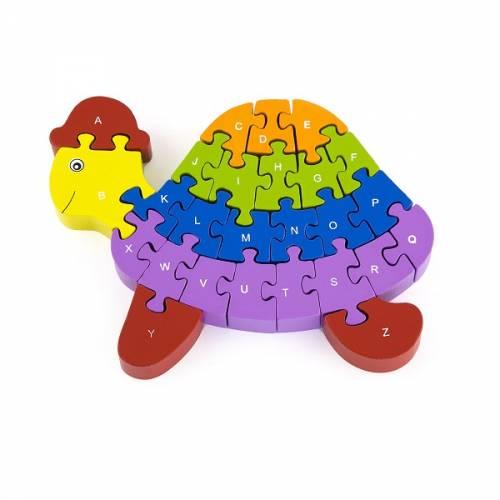 Деревянная игрушка  Пазл Viga Toys Черепаха 55250