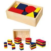 Деревянная игрушка  Набор для обучения Viga Toys Логические блоки 56164