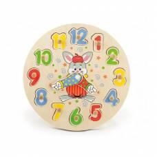 Деревянная игрушка  Развивающая игрушка-пазл Viga Toys Часы 56171