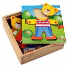 Деревянная игрушка  Игровой набор Viga Toys Гардероб медведя 56401