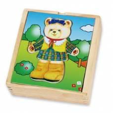 Деревянная игрушка  Игровой набор Viga Toys Гардероб медведицы 56403